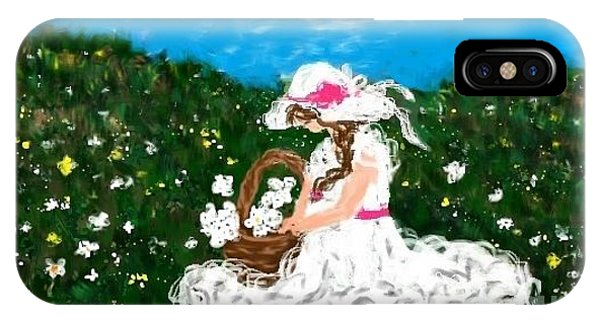 Gathering Flowers Phone Case by LCS Art