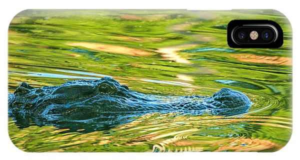 Gator In Pond IPhone Case