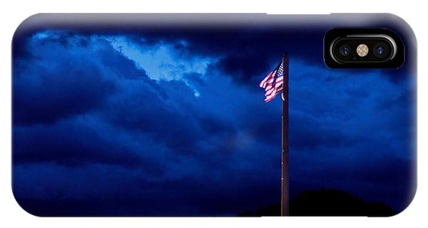 Gave Proof Through The Night That Our Flag Was Still There. IPhone Case