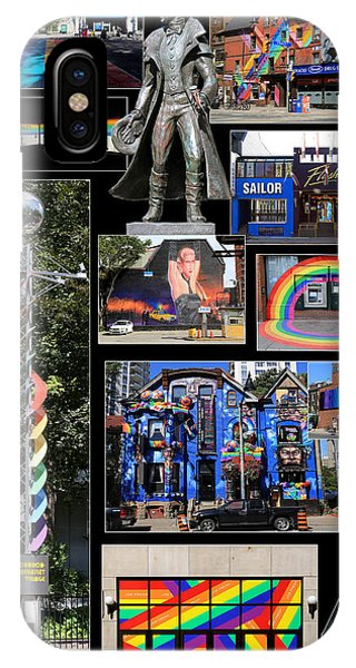 Gay Pride Flag iPhone Case - Gay Village 1 by Andrew Fare