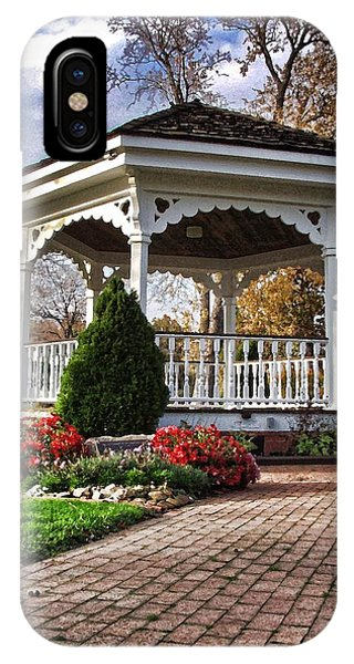 IPhone Case featuring the photograph Gazebo At Olmsted Falls - 3 by Mark Madere