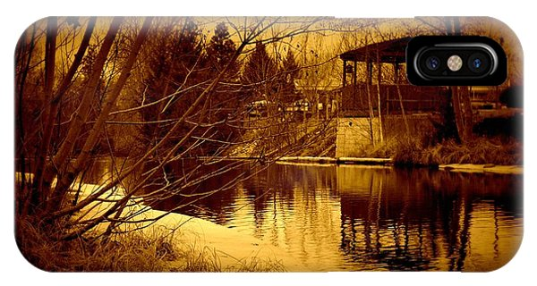 Gazebo By The Creek 02 IPhone Case
