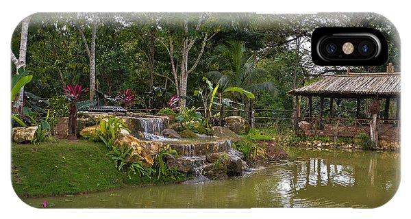 Gazebo View Good Hope Estate Jamaica IPhone Case