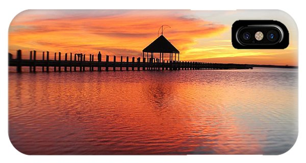 Gazebo's Sunset Reflection IPhone Case