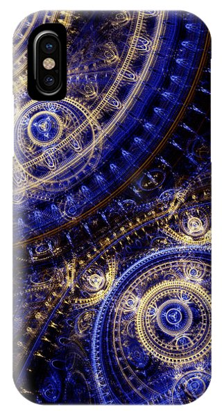 Fractal iPhone Case - Gears Of Time by Martin Capek