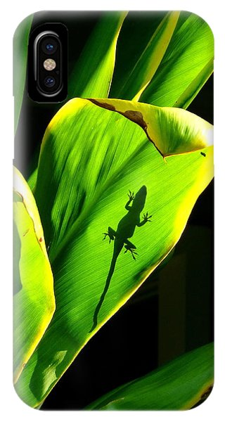 Gecko On A Leaf IPhone Case