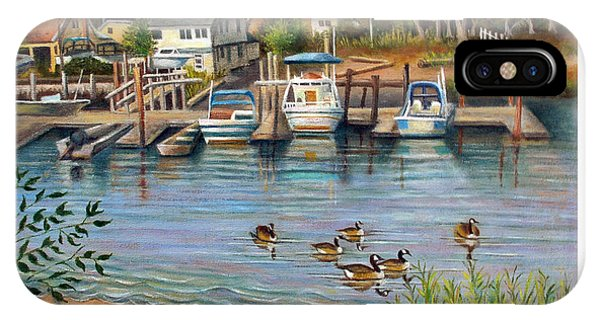Geese In Hamilton Beach IPhone Case