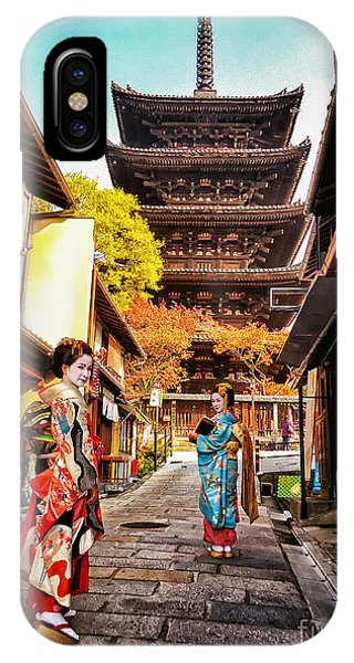 Geisha Temple IPhone Case