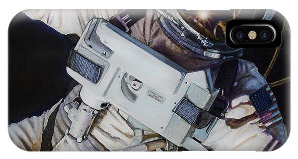 Moon iPhone X Case - Gemini Iv- Ed White by Simon Kregar