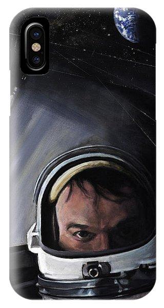 Nasa iPhone Case - Gemini X- Michael Collins by Simon Kregar