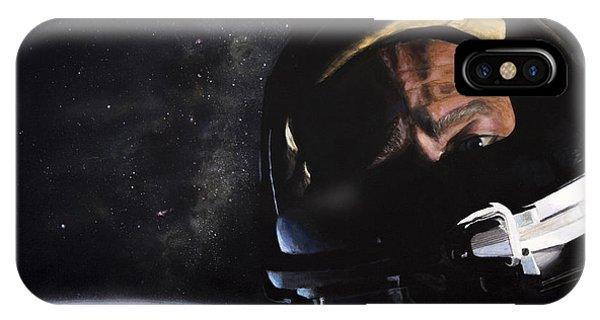 Nasa iPhone Case - Gemini Xii- Buzz Aldrin by Simon Kregar