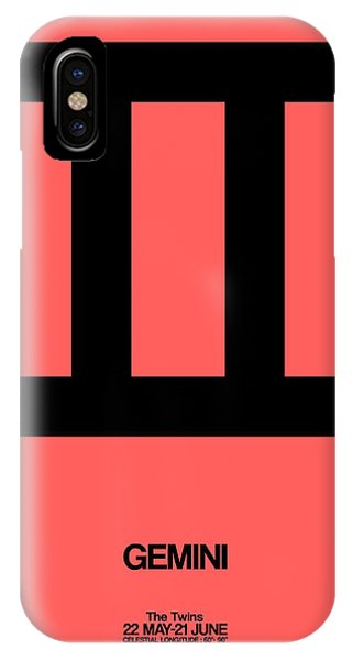Gemini Zodiac Sign Black IPhone Case