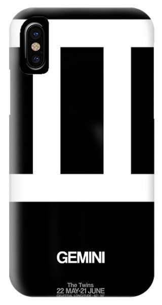 Gemini Zodiac Sign White IPhone Case