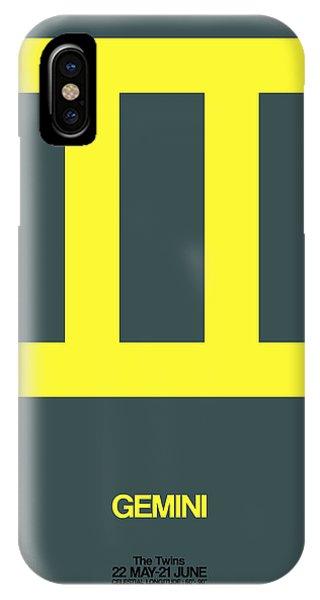 Gemini Zodiac Sign Yellow IPhone Case