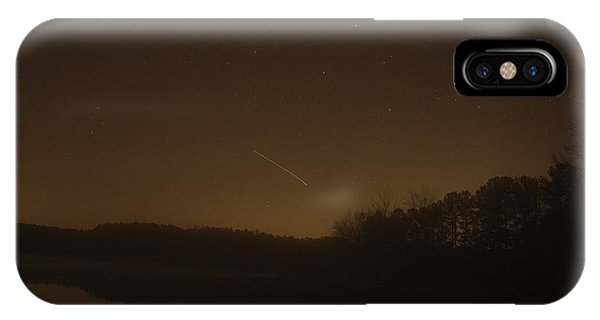 Lake Juliette iPhone Case - Geminid Meteor Shower by Donna Brown