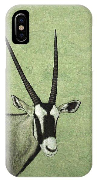 Horn iPhone Case - Gemsbok by James W Johnson