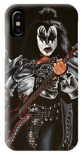 Realism iPhone Case - Gene Simmons Of Kiss by Paul Meijering