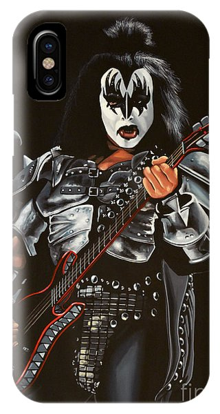 For iPhone Case - Gene Simmons Of Kiss by Paul Meijering