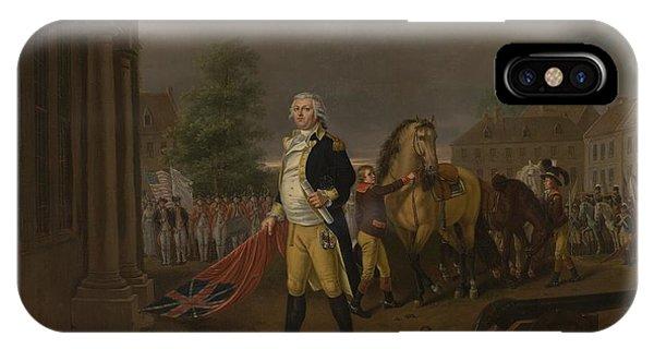 Yorktown iPhone Case - General Humphreys Delivering by Nicolas Louis Albert Delerive
