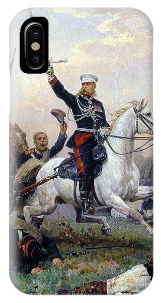 1877 iPhone Case - General M.d. Skobelev 1843-82 In The Russian-turkish War, 1883 Oil On Canvas by Nikolai Dmitrievich Dmitriev-Orenburgsky