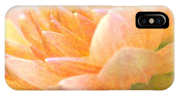 Gently Textured Dahlia  IPhone Case