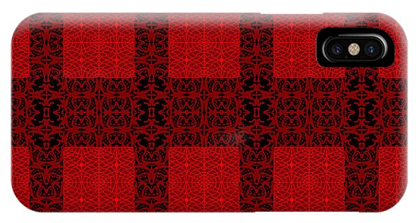 Geometric Abstract Stereo In Red IPhone Case