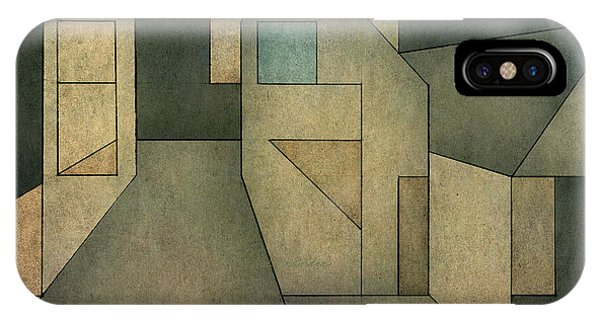 IPhone Case featuring the digital art Geometric Abstraction II by David Gordon