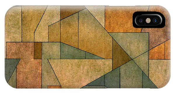 IPhone Case featuring the digital art Geometric Abstraction Iv by David Gordon