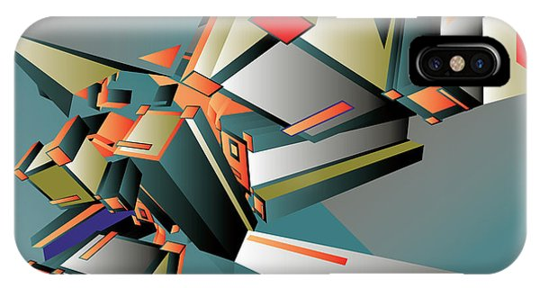 Triangles iPhone Case - Geometric Colorful Design Abstract by Singpentinkhappy
