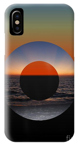 Geometric Sunset- Circle IPhone Case