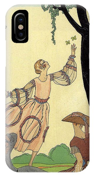 Fashion Plate iPhone Case - George Barbier Papillons 1921 by Pierpont Bay Archives