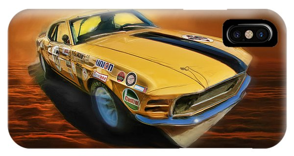 George Follmer 1970 Boss 302 Ford Mustang IPhone Case