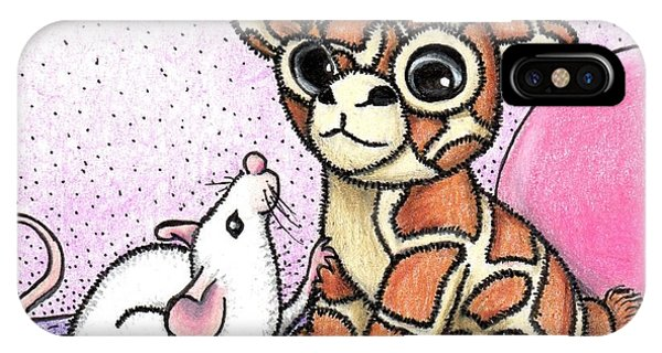 Lavender iPhone Case - George G. Mouse And The Toy Giraffe -- Why Won't He Play With Me? by Sherry Goeben