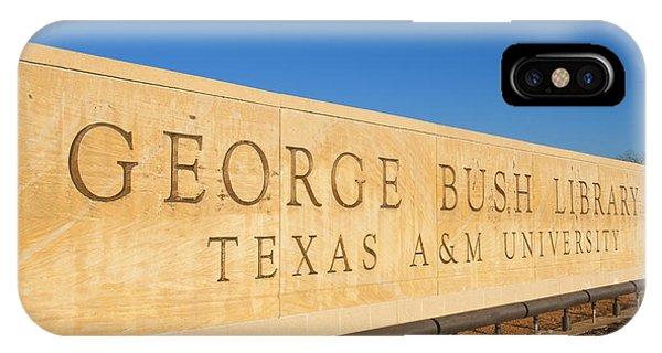 George Bush iPhone Case - George H. Bush Library, Texas by Bill Bachmann