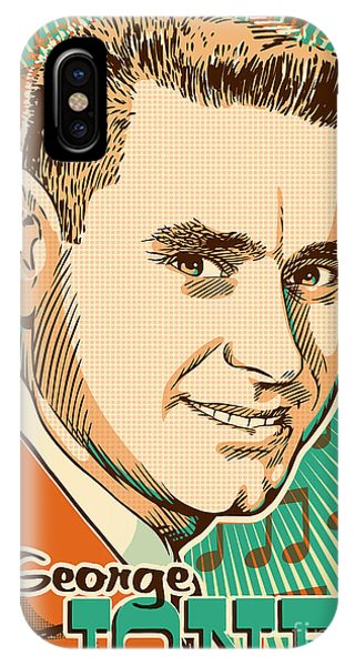 Johnny Cash iPhone Case - George Jones Pop Art by Jim Zahniser