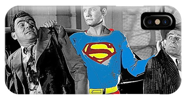 George Reeves As Superman In His 1950's Tv Show Apprehending Two Bad Guys 1953-2010 IPhone Case