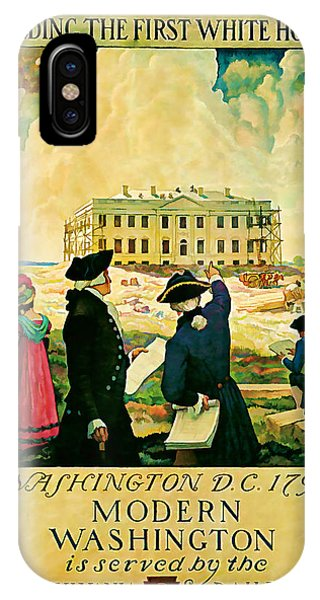 George Washington And The White House 1932 Vintage  IPhone Case
