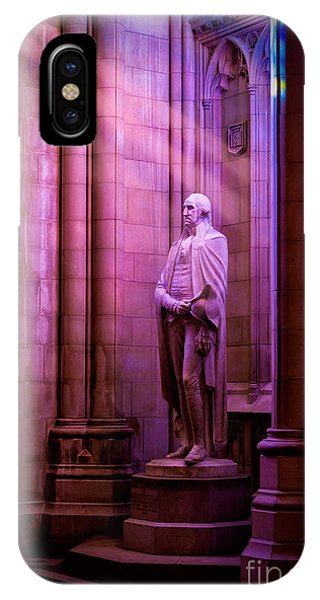 George Washington At The National Cathedral IPhone Case