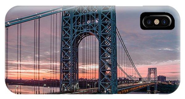 George Washington Bridge At Twilight IPhone Case
