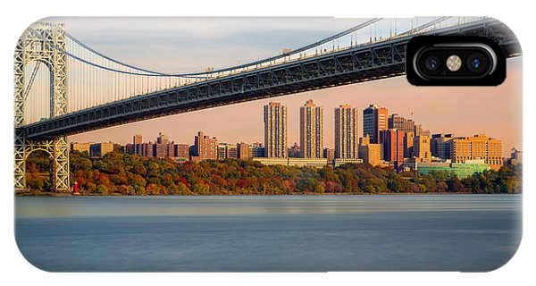 George Washington Bridge In Autumn IPhone Case