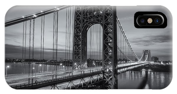 George Washington Bridge Morning Twilight II IPhone Case