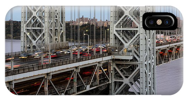 George Washington Bridge Rush Hour IPhone Case