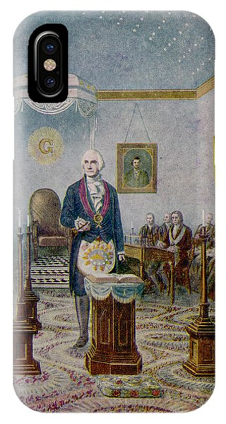 Capitol Building iPhone Case - George Washington, President by Mary Evans Picture Library