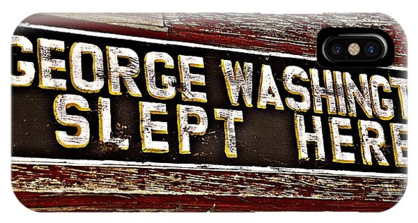 George Washington Slept Here Old Sign Phone Case by JW Hanley