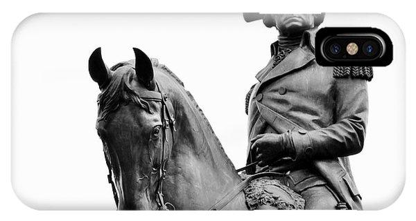 George Washington Statue Boston Ma IPhone Case