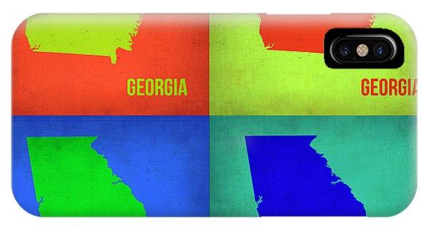 Georgia iPhone Case - Georgia Pop Art Map 1 by Naxart Studio