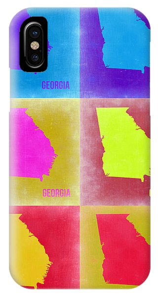 Georgia iPhone Case - Georgia Pop Art Map 2 by Naxart Studio