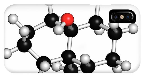 Earthy iPhone Case - Geosmin Earthy Flavour Molecule by Molekuul/science Photo Library