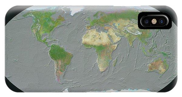 Sea Floor iPhone Case - Geosphere Map Of Ocean Floor by Copyright Tom Van Sant/geosphere Project, Santa Monica/science Photo Library