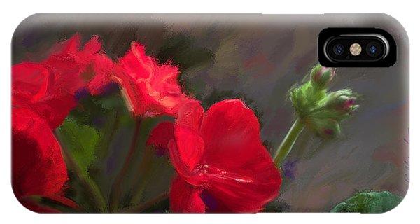 Geranium In Red IPhone Case